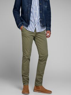MARCO BOWIE SLIM FIT CHINO PANTS